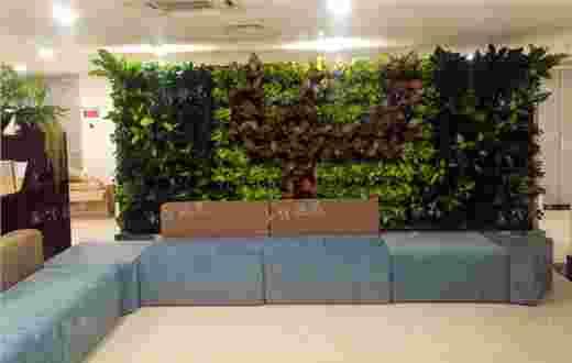 中国电信双面植物墙屏风案例