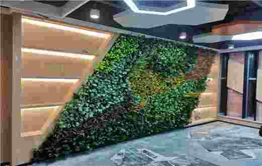 北京创富大厦仿真植物墙